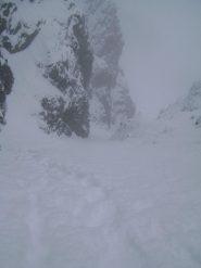 in salita, tanta neve