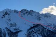 Il tracciato di salita   I   Le tracé de la montée   I   The route going up    I   Die Aufstiegsspur   I   La huella de subida