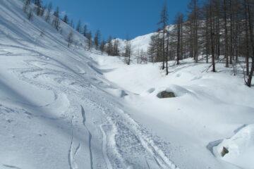 La parte bassa del percorso   I   La partie inferieur du parcours   I   The lower part of the slope   I   Der untere Routenabschnitt   I   La parte inferior del recorrido