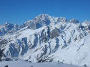 dalla vetta veduta verso il Monte Bianco