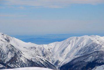 colline torinesi, Monferrato e Langhe dietro il Colle della Roussa