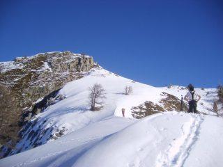 Ultimi metri sulla cresta finale dal colle