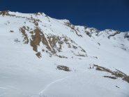 Pendii di salita sopra Colle Leynir (esposizione Sud)