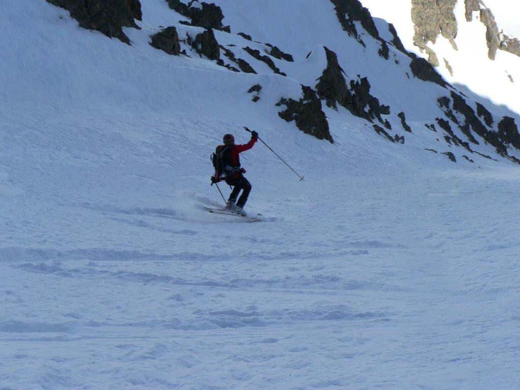 tarik primo tratto di canale in neve super