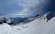 Panorama dal Monte Creusa al colle di Tenda