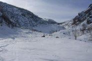 Farina anche nella parte bassa sotto l'Alpe Luvas