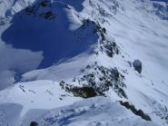 Dalla cima guardando il deposito sci