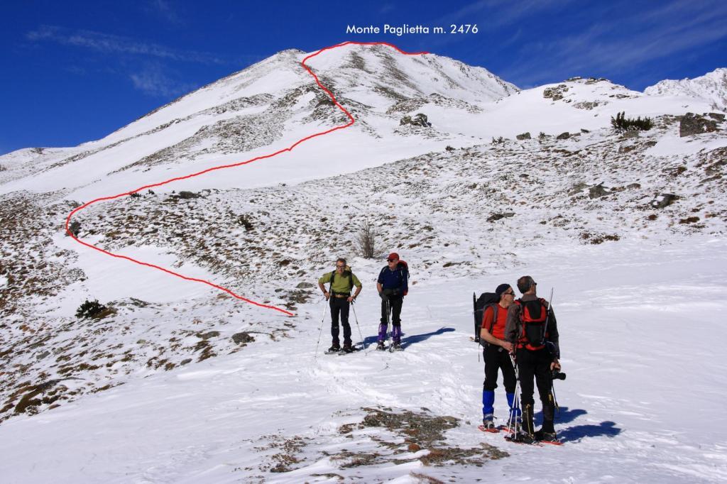 una breve sosta nei pressi della Cima di Monteret (19-2-2011)