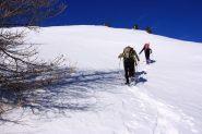 salendo verso la cresta (19-2-2011)