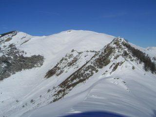 Salendo al Tagliarè, vista su Rocche Calera, La Rocciaia, Alpe di Rittana, Beccas di Mezzodì