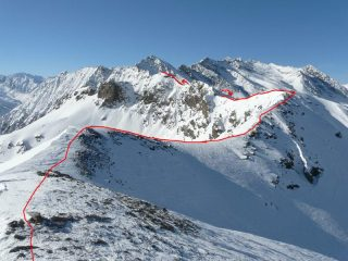 la cresta Giulian-Chiarlea vista dal M.Giulian