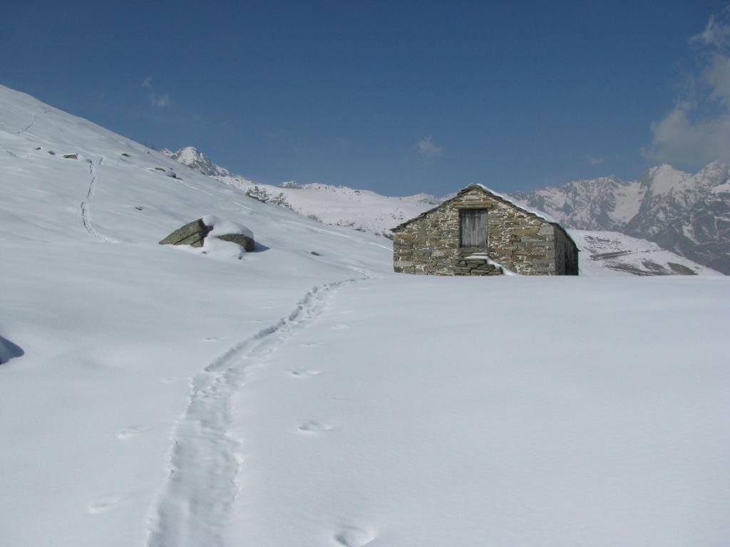 Arrivo all'Alpe Contessa Ricardi