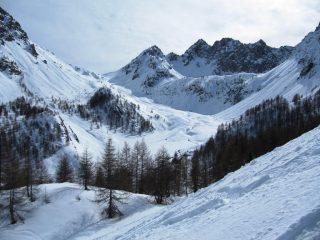 Più in basso come appare Prato Ciorliero e il Passo della Gardetta (oggi frequentato da 6 o 7 escursionisti)