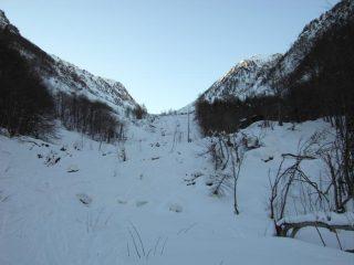 1.Inizio del vallone del Binec.