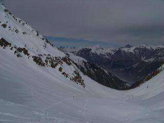panorama verso il vallone di salita