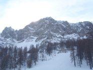 04 - la bella parete della Grand'Hoche in vrsione invernale