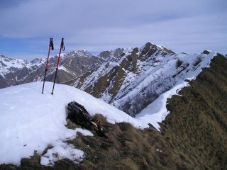 panorama dal monte rossin