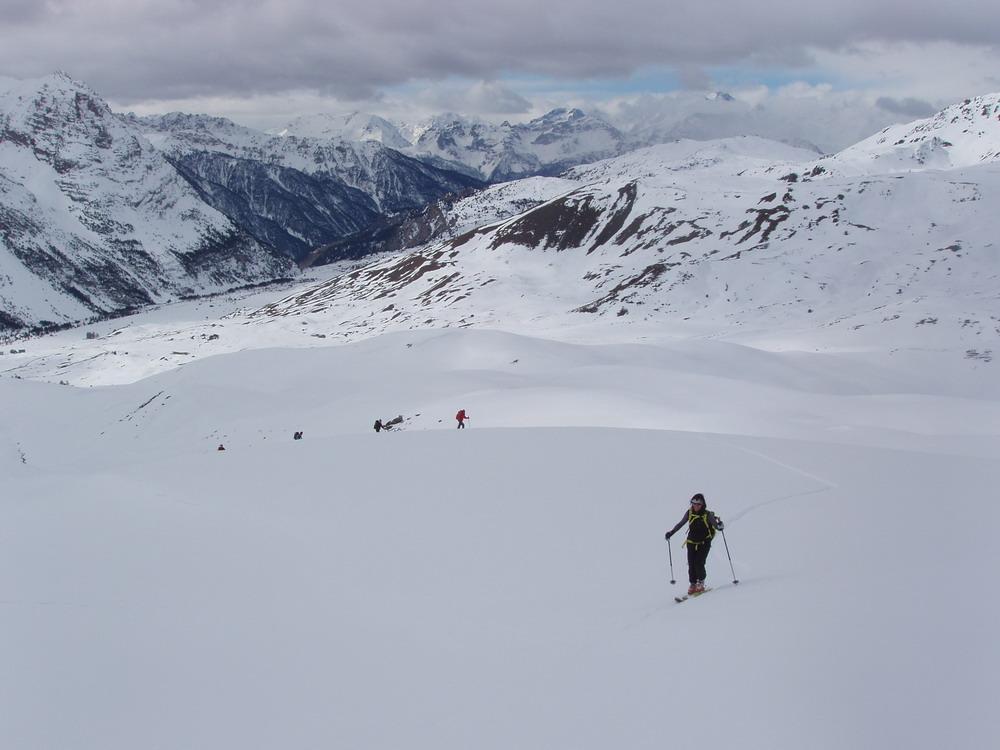 Giassiez (Monte) o Giaissez e Cima Fournierda Bousson, anello per il Lago Nero 2011-02-27