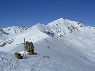 Vista dal Monte Crosetta verso il Tibert e la Costa Chiot