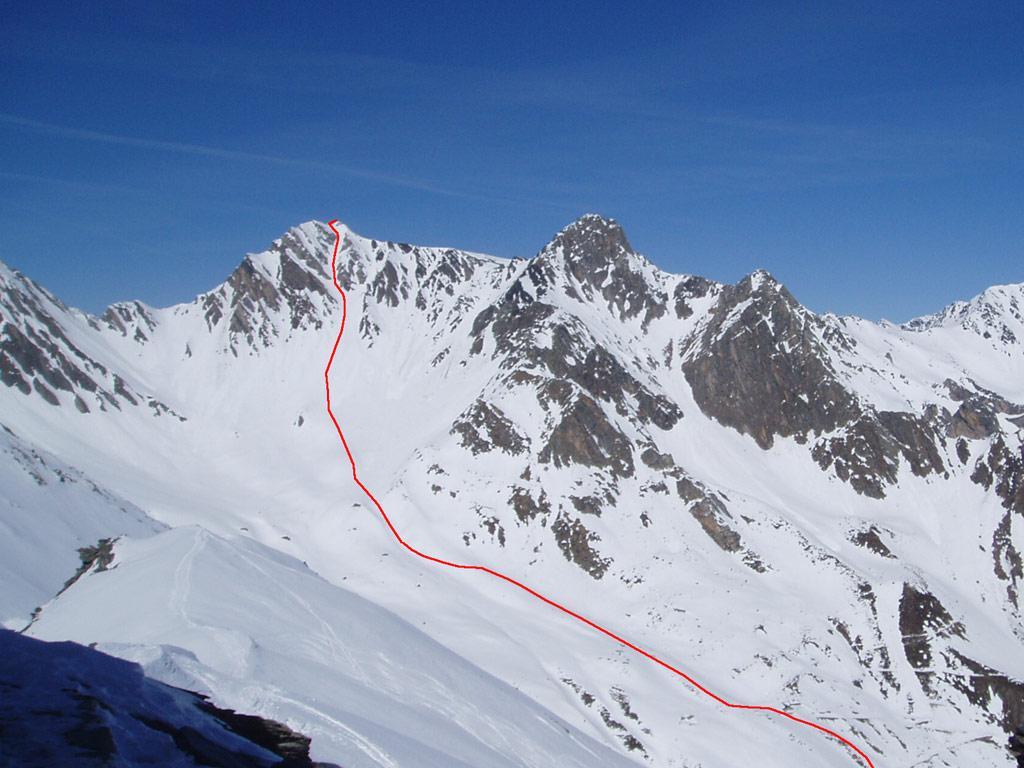 la parte finale del percorso vista dalla crevacol (foto Sapetti 11-3-2011)