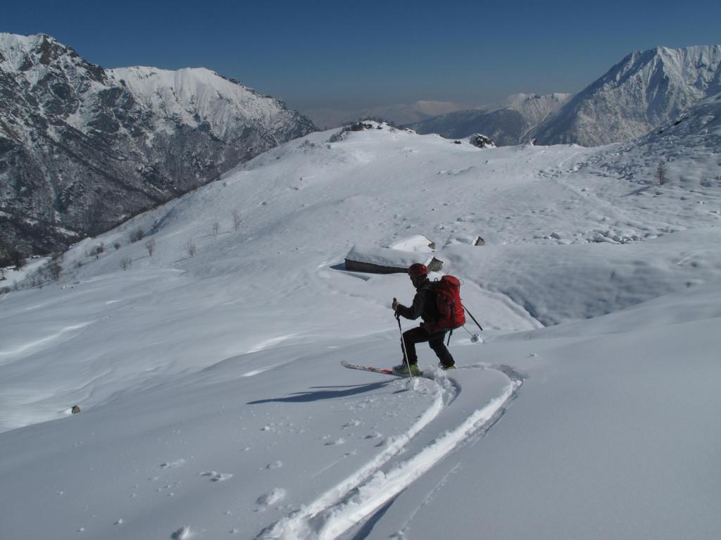 Discesa sull'alpe Crest