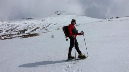 Stelvio sale lungo il versante Sud-Ovest del Cimone, a quota 1850 m. (18-3-2011)