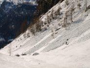 Assestementi poco sopra Alpe Cologno