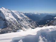 Panorama da Pizzo Troggi (2309 m):  a sinistra Monte Forno