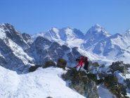 Tratto finale al cospetto del Bernina, Scerscen, Roseg