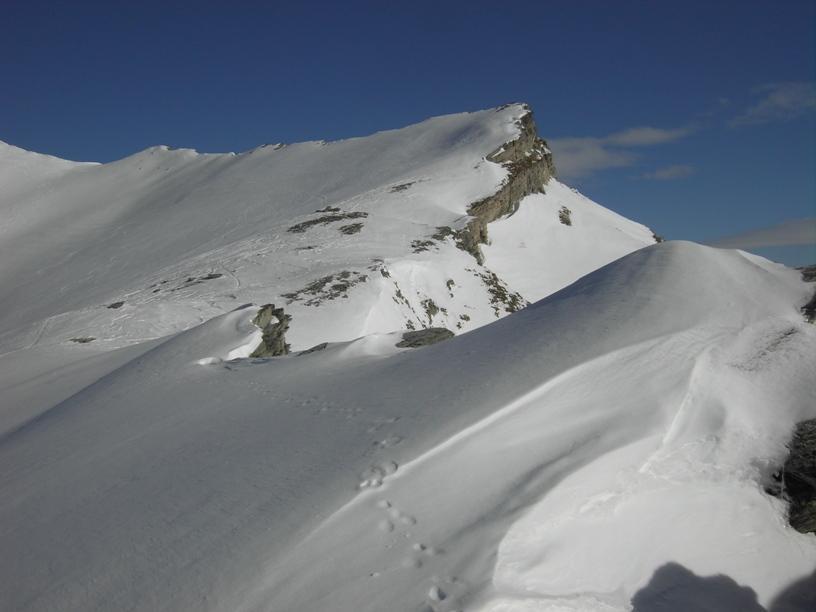 1.tratto superiore della cresta.