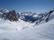 in discesa verso la valle Stretta
