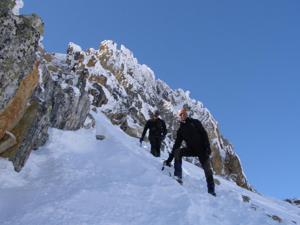 Moulinière (Pic de la) da Le Pont de l'Alpe per il canale SE 2011-03-24