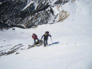 ultimi ripidi metri per la cima