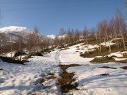 Neve scarsa a quota 1300 m