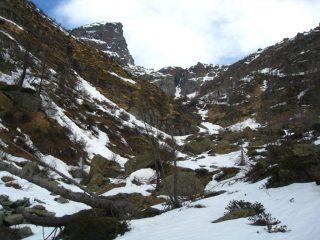 Un'idea di quanta poca neve c'è nel canale iniziale