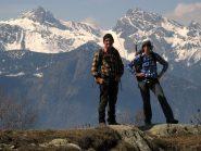 In cima alla Téte de Cou, Avic e Ruvy sullo sfondo
