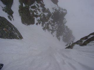 sotto la strettoia e nevicata in arrivo