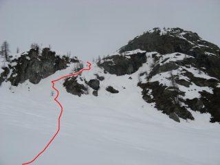 canalino finale dai ripiani dell'alpe losasset