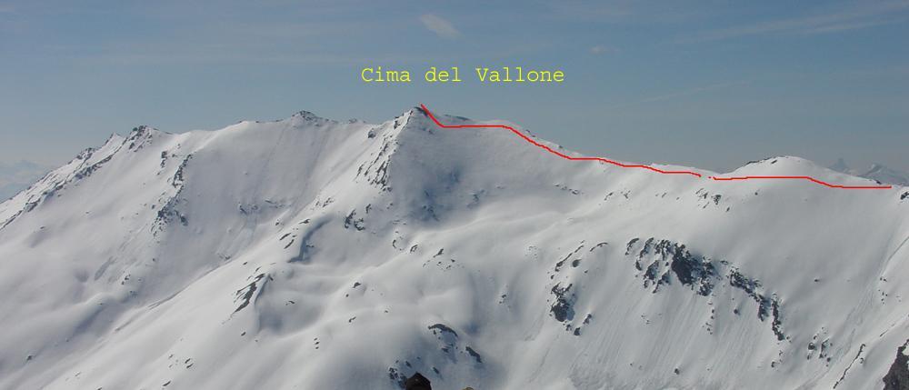 Vallone (Cima del) o Pointe de Paumont da Les Granges 2008-02-10