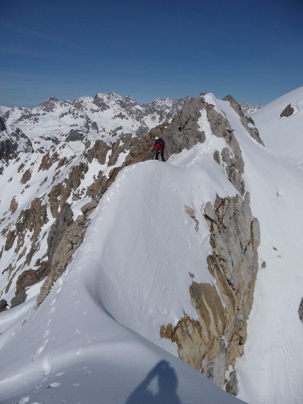 sulla cresta fra le due cime