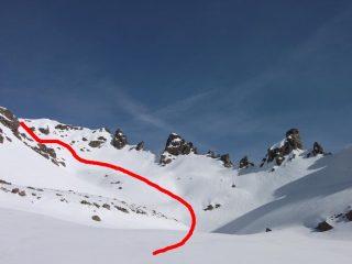 la valletta nascosta tra Costarossa e Trento