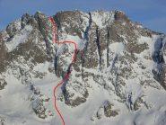l'itinerario ancora  roccioso, febbraio 2010 da Valcuca