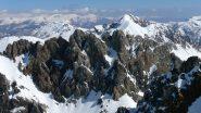 La linea di cresta del Cassorso prende forma oltre alla Rocca Brancia