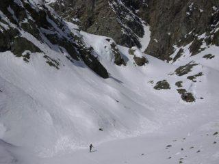 il canale che immette sul ghiacciaio di Torrent