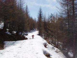 La neve sulla stradina