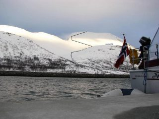 l'itinerario visto dalla barca