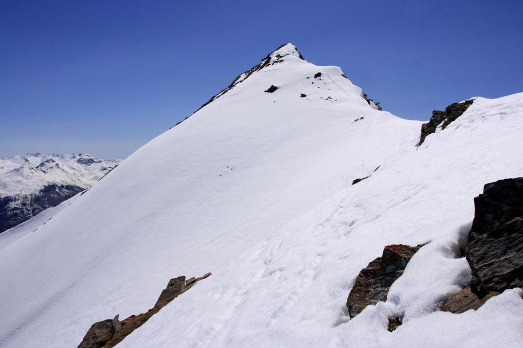 Crouès (Tete de) da Saint Anne la Condamine per il Vallon Riou de Crouès e la cresta Nord 2011-04-09