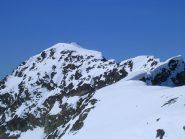 Il Piz Lagrev visto dalla cima scialpinistica