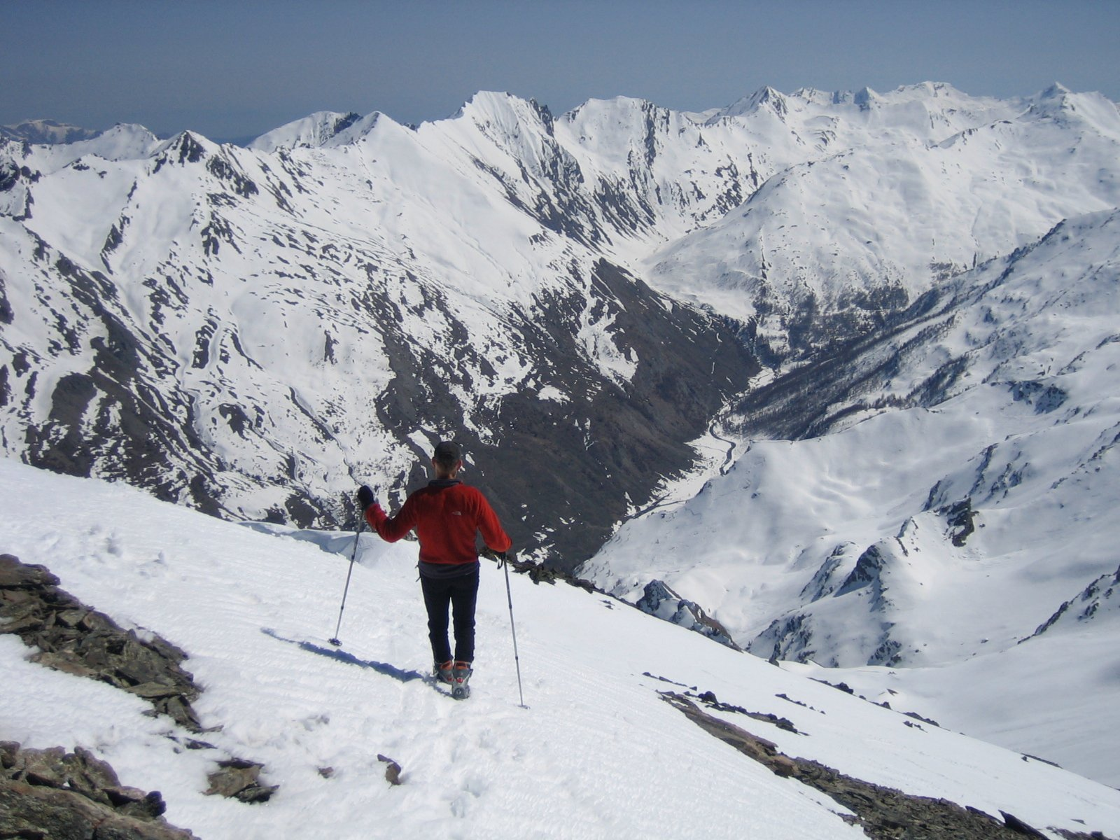 scendendo dalla cima: vista sulla valle Argentera