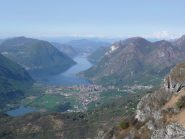 Verso lago di Lugano, il Rosa a destra